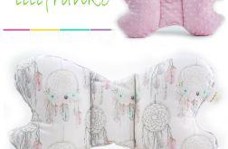 Poduszka Podróżna łapacze - róż