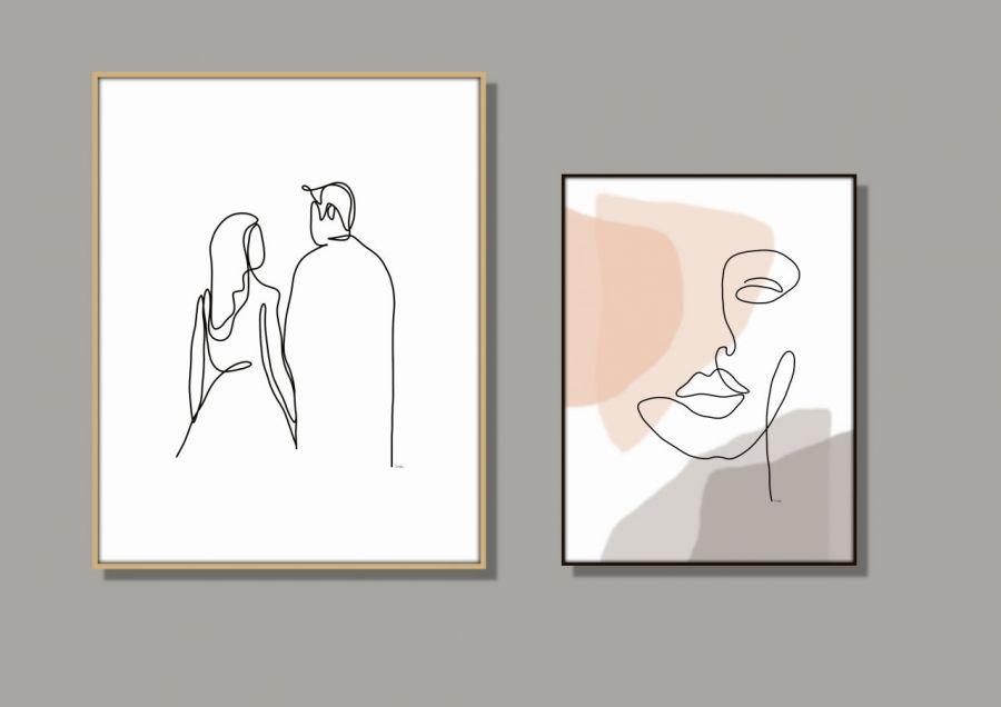 Grafika Kobieta i mężczyzna - Kompozycja dwóch prac