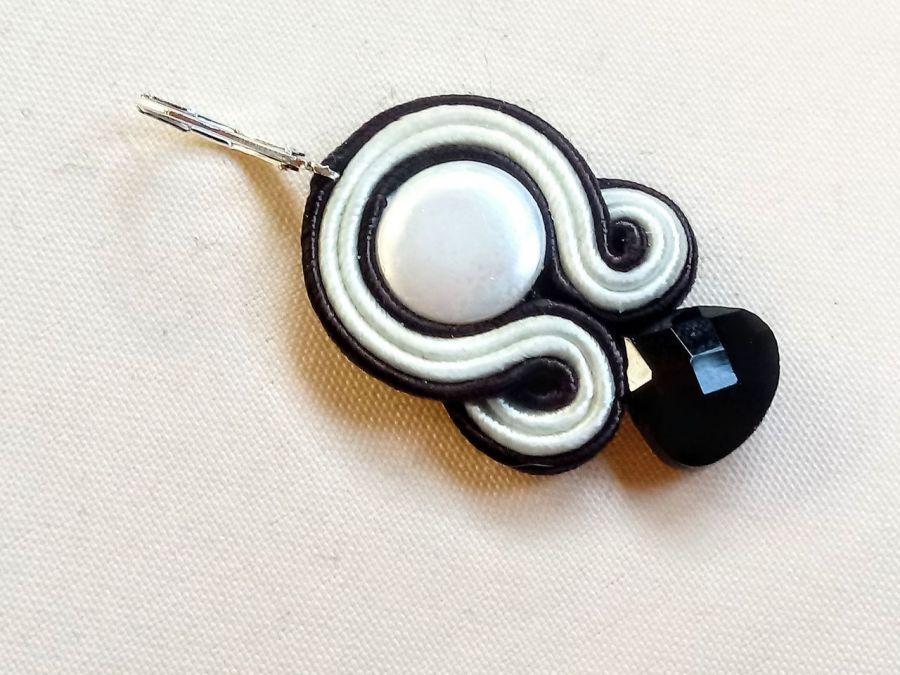 Kolczyki sutasz Black&White - 3.8 cm