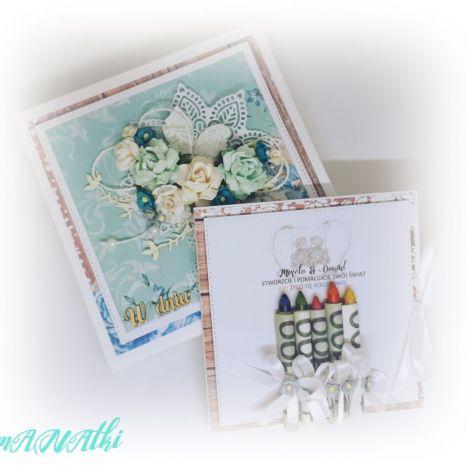 Karnet w pudełku rocznica, ślub