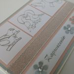 Zaproszenie ślubne (2) - Kartka z wykorzystaniem srebrnych naklejek
