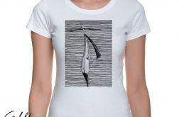 Kapelusz - t-shirt damski - różne kolory