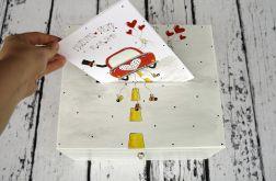 pudełko na karty ślubne z Młodą Parą i kartka