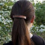 Kwiatuszki - miedziana klamra 210412-04 - biżuteria do włosów