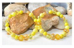 4045 kolczyki duże koła 6 cm żółte