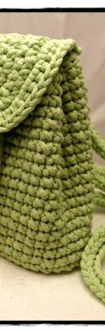Wiosenny plecak z bawełnianego sznurka