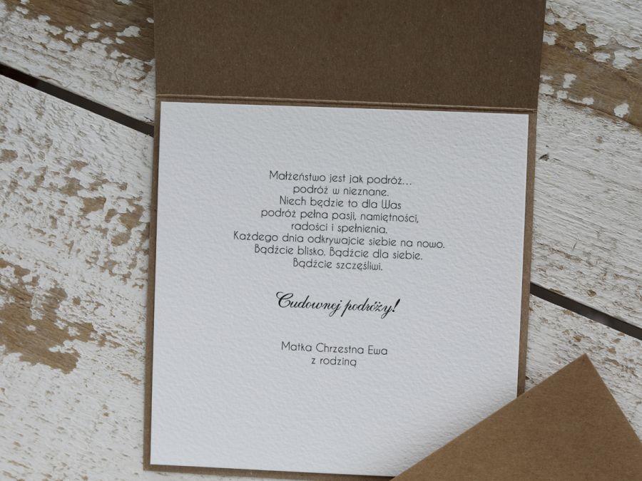Kartka ślubna z pudełkiem monstera -