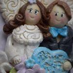 Aniołki Parka ślubna w ramce 3D -