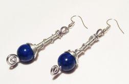 Kolczyki z niebieskim agatem