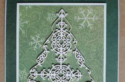 Kartka świąteczna Boże Narodzenie Choinka