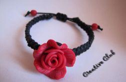 Bransoletka z różą