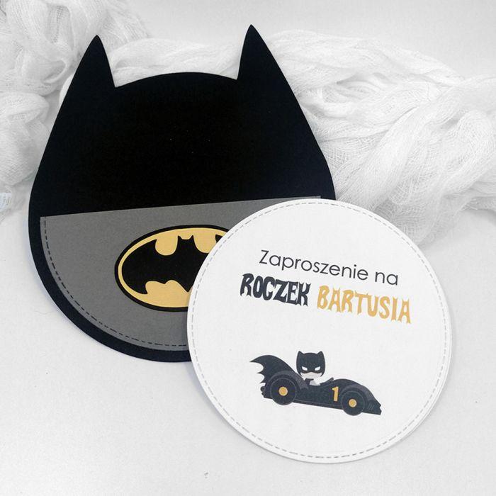 Zaproszenie na roczek Batman ZUD 012 - Zaproszenie na roczek Batman (2)