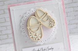 Kartka dla dziewczynki -pantofelki