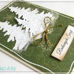 Kartka świąteczna z choinkami 2