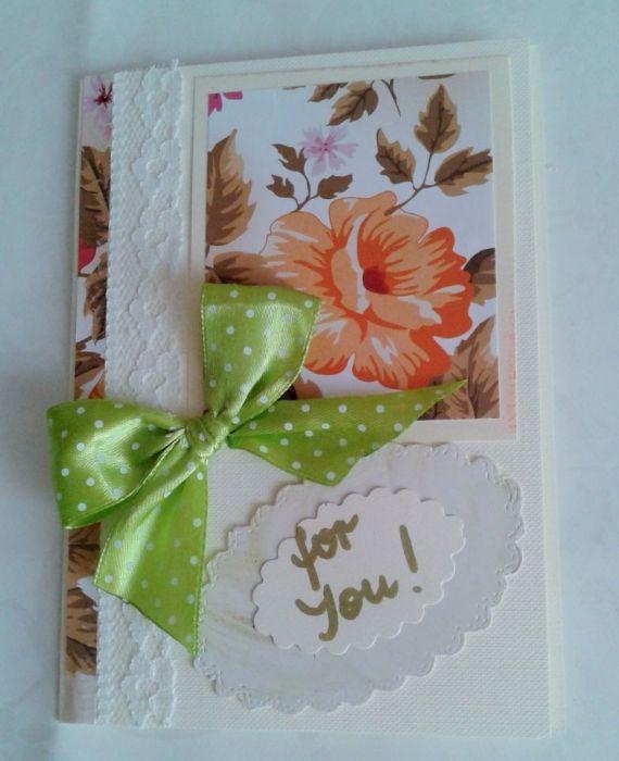 """kartka  """"dla Ciebie"""" - kartka for you"""