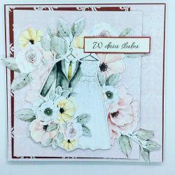 Kartka z napisem W dniu ślubu