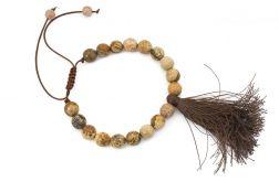 Bransoletka mała Mala buddyjska jaspis 18
