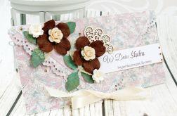 Kartka ślubna- herbaciane róże