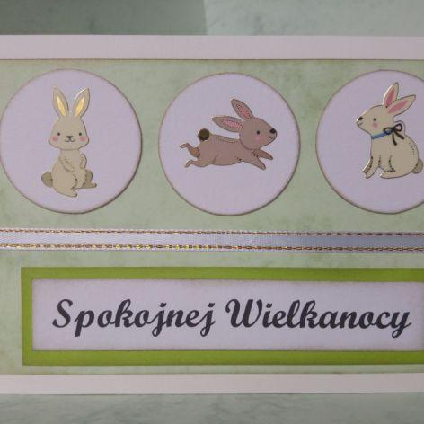 Kartka wielkanocna z króliczkami (2)