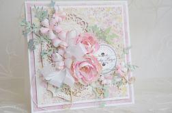 Pastelowa kartka ślubna WZÓR