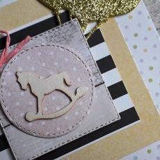 Kartka na Roczek urodziny konik na biegunach