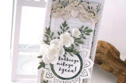 Boho - kartka ślubna