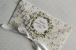 Kartka ślubna kopertowa kopertówka Floral XV