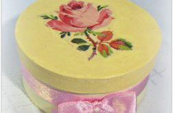 Pudełko okrągłe z różą