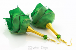 Kolczyki Silk zielone
