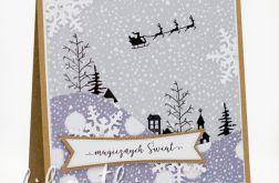 Wioska świąteczna - kartka świąteczna KBN2011