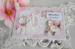 Ślubna kartka A5 w kopercie 15