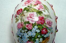 """Jajko""""Bukiet róż i kwiatów"""""""