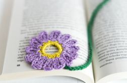 Zakładka do książki. Kwiatek fioletowy