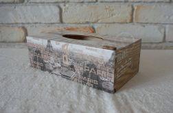 Pudełko prostokątne na chusteczki PARIS