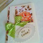 """kartka  """"dla Ciebie"""" - kartka z kwiatami dla niej"""