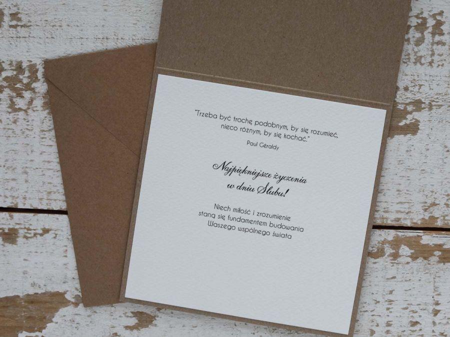 Stylowa kartka na ślub z personalizacją -
