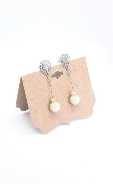 Kolczyki z szaro-zielonym jadeitem