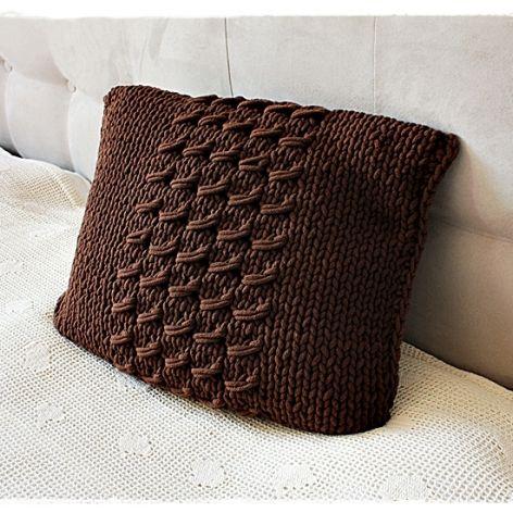 Poduszka ze sznurka bawełnianego szara