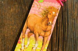 Zakładka z koniem, dla dziewczynki