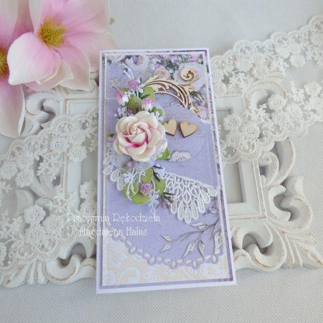 Ślubna kartka w pudełku 189