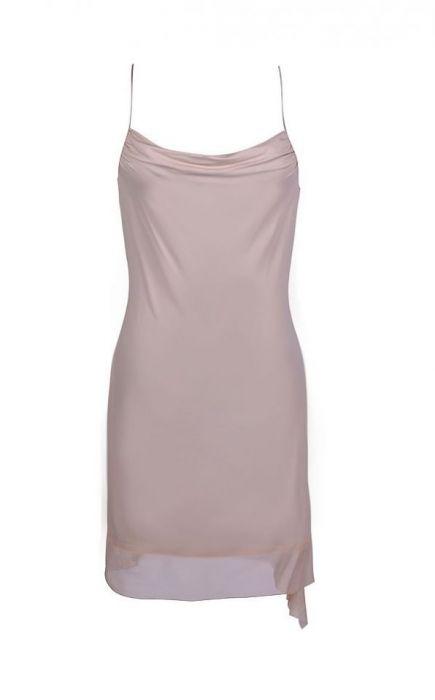 Sukienka na ramiączkach z tiulowym dołem