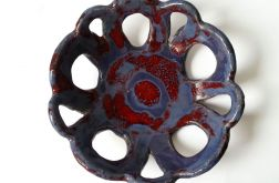 Patera ceramiczna niebieska 28