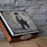 Pudełko pamiątka Chrztu dla chłopca