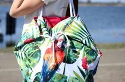 damska torba wakacyjna w papugę