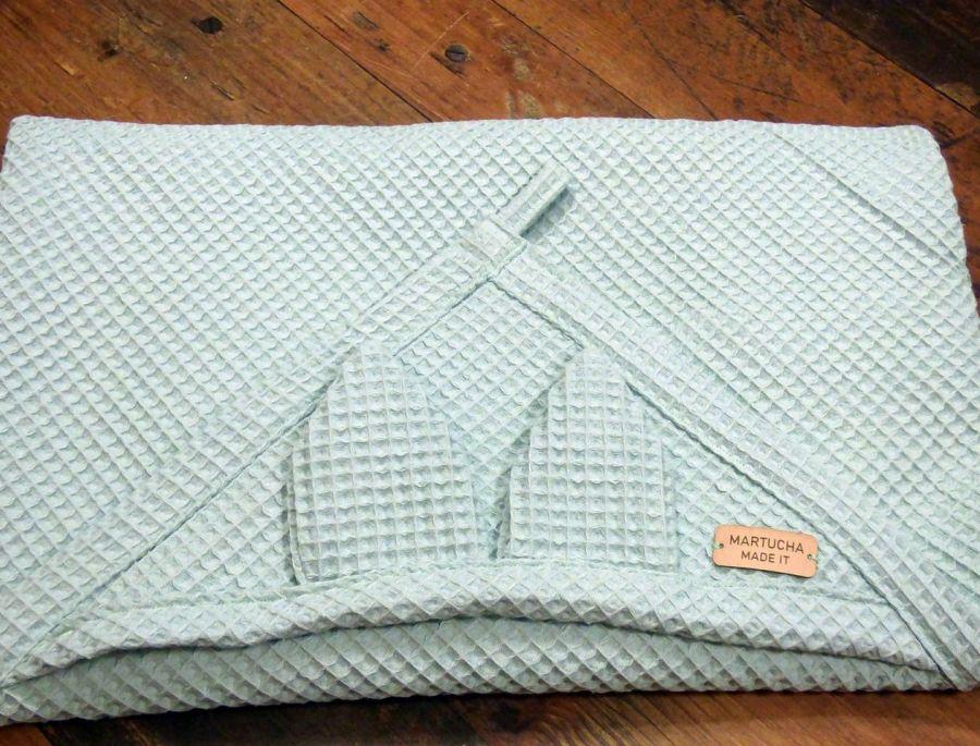 Ręcznik niemowlęcy z kapturkiem -duży, ręcznik wafel, otulacz,
