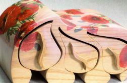 Szkatułka drewniana maki