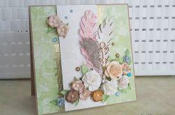 Kwiatami usłane - kartka okolicznościowa