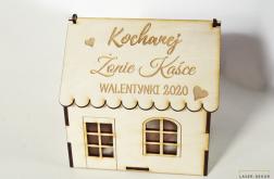 WALENTYNKI domek pudełko słodycze CHATKA dzie