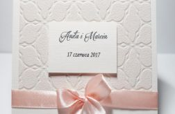 Zaproszenie ślubne pudrowy róż