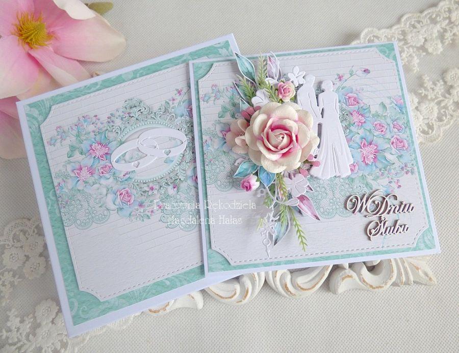 Ślubna kartka w pudełku 221